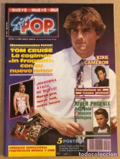 SUPER POP N°317 (MAYO, 1990). MADONNA, RIVER PHOENIX, TOM CRUISE, POSTERS... (Música - Revistas, Manuales y Cursos)