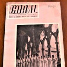 Revistas de música: REVISTA MUSICAL CORAL Nº 6, ÓRGANO DE LAS AGRUPACIONES CORALES DE ESPAÑA E HISPANOAMÉRICA 1952. Lote 240969080
