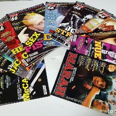 Revistas de música: 11 RUTA 66 AÑO 2008 COMPLETO. MCCARTNEY,STRUMMER,BOB DYLAN,SEX PISTOLS,245 A 255. Lote 241627100