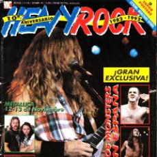 Revistas de música: REVISTA HEAVY ROCK NUMERO 110 METALLICA, SCORPIONS, AC/DC, LOS MONSTERS EN ESPAÑA. Lote 241737660