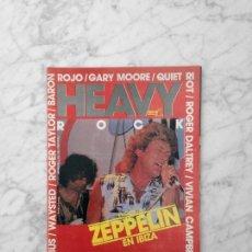 Revistas de música: HEAVY ROCK - Nº 16 - 1984 - ROGER TAYLOR, WAYSTED, LED ZEPPELIN, OBUS, ZAPPA, KISS, BARON ROJO. Lote 241740050