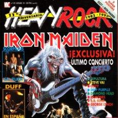 Revistas de música: REVISTA HEAVY ROCK NUMERO 122 IRON MAIDEN. Lote 241745595