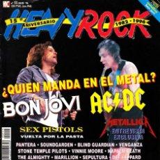 Revistas de música: REVISTA HEAVY ROCK NUMERO 155 BON JOVI, AC/DC. Lote 241747665