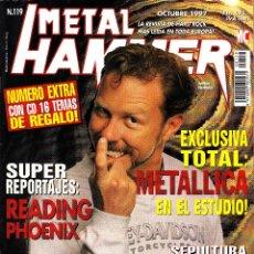 Revistas de música: REVISTA METAL HAMMER NUMERO 119 METALLICA CON POSTER DE ALICE COOPER Y KISS. Lote 241758760