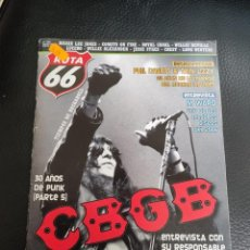 Revistas de música: RUTA 66 Nº 235 RAMONES, CBGB, THIN LIZZY, PHIL LYNOTT, M WARD, RICKIE LEE JONES, CHEST, JG BALLARD. Lote 242822400