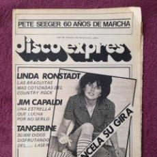 Revistas de música: DISCO EXPRES Nº 469 LINDA RONSTADT MAKOKI CAPALDI TANGERINE DREAM CREMA GALILEA COSTA ROCK BENIDORM. Lote 242946115