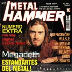 Revistas de música: REVISTA METAL HAMMER NUMERO 113 MEGADETH. Lote 243224025