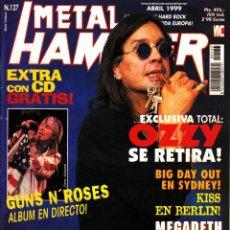 Revistas de música: REVISTA METAL HAMMER NUMERO 137 OZZY OSBOURNE. Lote 243232485