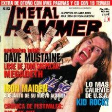 Revistas de música: REVISTA METAL HAMMER NUMERO 143 DAVE MUSTAINE. Lote 243235425