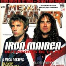 Revistas de música: REVISTA METAL HAMMER NUMERO 151 IRON MAIDEN. Lote 243243105