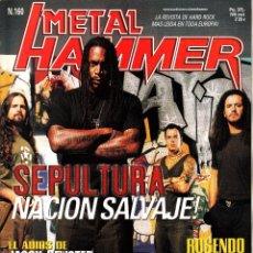 Revistas de música: REVISTA METAL HAMMER NUMERO 160 SEPULTURA. Lote 243243870
