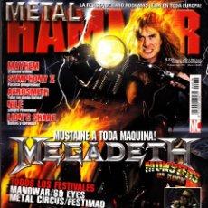 Revistas de música: REVISTA METAL HAMMER NUMERO 236 MEGADETH. Lote 243252075