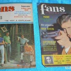 Revistas de música: FANS Nº 91 LA COMPLICADA DEL GRUPO LOS BOTINES CON CAMILO SESTO+LA Nº 24 DE REGALO LEER DESCRIPCION. Lote 243439635