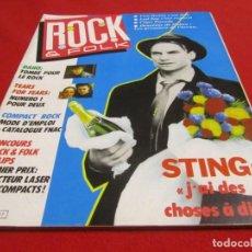 Revistas de música: ROCK AND FOLK,TEARS FOR FEARS,VAN HALEN,LED ZEPPELIN,THE POLICE,STING,DIANNA ROSS,MADONNA,VAN ZANDT. Lote 243455530