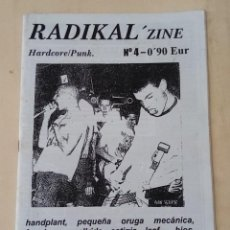 Revistas de música: RADIKAL ZINE #4 - HANDPLANT - PEQUEÑA ORUGA MECANICA - WALLRIDE - ESTIGIA. Lote 243540340