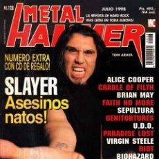 Revistas de música: REVISTA METAL HAMMER NUMERO 128 SLAYER. Lote 243604445