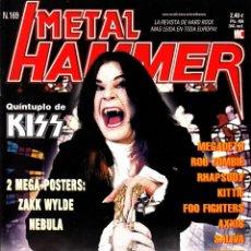 Revistas de música: REVISTA METAL HAMMER NUMERO 169 VUELVE LA PESADILLA OZZY OSBOURNE. Lote 243605035