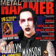 Revistas de música: REVISTA METAL HAMMER NUMERO 235 MARILY MANSON. Lote 243606355