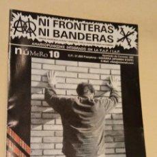 Revistas de música: NI FRONTERAS NI BANDERAS #10 - U.K. SUBS - APATIA NO - AÇAO DIRETA. Lote 243960855
