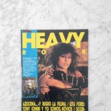 Revistas de música: HEAVY ROCK - Nº 28 - 1985 AZUCENA, DEEP PURPLE, TARZEN, IRON MAIDEN, BON JOVI, SCORPIONS, LITA FORD. Lote 244542945
