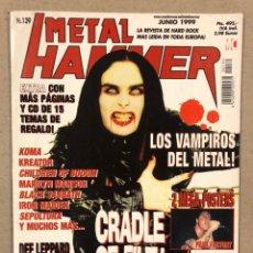 Revistas de música: METAL HAMMER N° 139 (1999). CRADLE OF FILTH, MANOWAR, IRON MAIDEN, CHILDREN OF BODOM,.... Lote 244555735