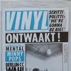 Riviste di musica: VINYL Nº 8. THEATRE OF HATE, SOFT CELL… HOLANDA. NOVIEMBRE 1981. INCLUYE FLEXIDISC. Lote 245038780