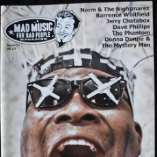 Revistas de música: MAD MUSIC FOR BAD PEOPLE MAGAZINE - NUM. 12 - PSYCHOBILLY - EN INGLES -. Lote 245110115