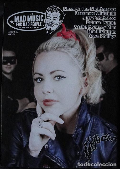 Revistas de música: MAD MUSIC FOR BAD PEOPLE MAGAZINE - NUM. 12 - PSYCHOBILLY - EN INGLES - - Foto 2 - 245110115