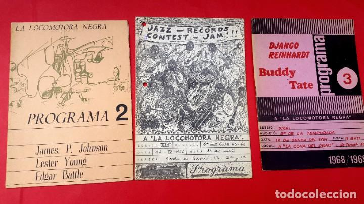 JAZZ - 3 REVISTAS LA LOCOMOTORA NEGRA - 1966 - 1967 - 1968/69 (Música - Revistas, Manuales y Cursos)