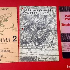 Revistas de música: JAZZ - 3 REVISTAS LA LOCOMOTORA NEGRA - 1966 - 1967 - 1968/69. Lote 245302580