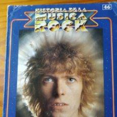 Revistas de música: HISTORIA DE LA MUSICA ROCK Nº 46 FASCICULO -GLAM ROCK- DAVID BOWIE, ALICE COOPER, GILBERT O'SULLIVAN. Lote 245409425