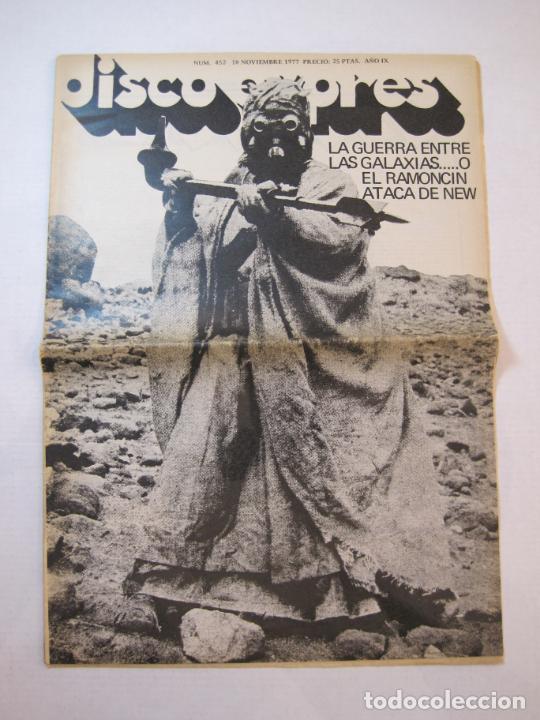 DISCO EXPRES-NUM 452-AÑO 1977-STAR WARS-GUERRA ENTRE LAS GALAXIAS O RAMONCIN...-VER FOTOS-(V-22.553) (Música - Revistas, Manuales y Cursos)