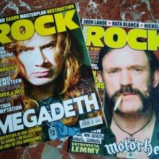 Revistas de música: LOTE 2 REVISTAS THIS IS ROCK MEGADETH MOTORHEAD HEAVY QUEEN. Lote 245755480