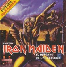 Revistas de música: REVISTA ROCK SOUND ESPECIAL IRON MAIDEN INCLUYE CD. Lote 248071385