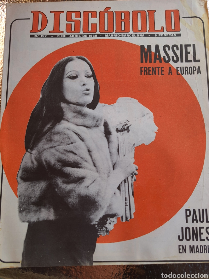 REVISTA MUSICAL DISCOBOLO N 152. MQSSIEL FRENTE A EUROPA 1968 (Música - Revistas, Manuales y Cursos)