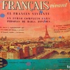 Revistas de música: CURSO EL FRANCÉS VIVIENTE * 4 DISCOS DE 10 PÙLGADAS + DICCIONARIO. Lote 248568695