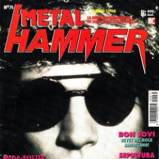 Riviste di musica: REVISTA METAL HAMMER NUMERO 74 BON JOVI CON POSTER DE PANTERA. Lote 252014380
