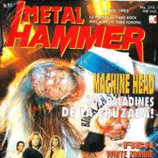 Revistas de música: REVISTA METAL HAMMER NUMERO 91 MACHINE HEAD CON POSTER DE DEICIDE Y WHITE ZOMBIE. Lote 252051935