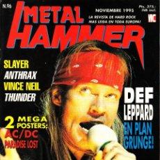 Revistas de música: REVISTA METAL HAMMER NUMERO 96 GUNS AND ROSES CON POSTER DE AC/DC Y PARADISE LOST. Lote 252071720