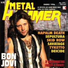 Revistas de música: REVISTA METAL HAMMER NUMERO 98 BON JOVI CON POSTER DE DEF LEPPARD Y UGLY KID JOE. Lote 252072100