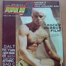 Revistas de música: POPULAR 1 Nº 28 THE ROCKY HORROR PICTURE SHOW PETER HINWOOD BAD COMPANY 1975 COMPLETA CON POSTERS !!. Lote 252425095