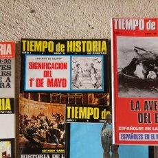 Revistas de música: LOTE DE 8 REVISTAS ANTIGUAS TIEMPO DE HISTORIA. Lote 253572290