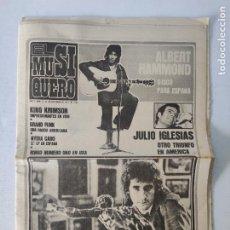 Revistas de música: DIARIO - EL MUSIQUERO - EL RETORNO DE MIGUEL RIOS - DICIEMBRE 1973. Lote 254292700
