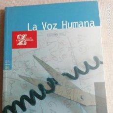 Revistas de música: LA VOZ HUMANA. TEATRO DE LA ZARZUELA. TEXTO COCTAU. 96PP. Lote 254446440