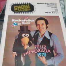 Revistas de música: ANTIGUA REVISTA ESPECTACULO SHOW PRESS JOSE LUIS MORENO 1978 34. Lote 254508880