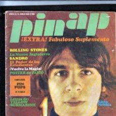 Revistas de música: REVISTA PIN AP: VINTAGE DE ARGENTINA- NEBBIA-BEATLES-MOCKERS- SHAKERS- SANDRO-STONES- PIEAZ COLECCIO. Lote 254950475