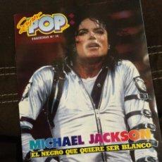 Revistas de música: MICHAEL JACKSON, SÚPER POP, INCLUYE POSTER DOBLE PÁGINA. FASCICULO DE 15 PÁGINAS DEDICADO AL ARTISTA. Lote 255662480