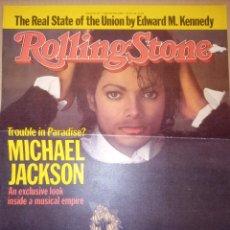 Revistas de música: MICHAEL JACKSON ROLLING STONE PORTADA + PAGINAS. Lote 257416285