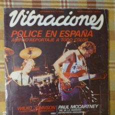 Revistas de música: VIBRACIONES Nº 72, SEPT 1980. POLICE, WILKO JOHNSON, ANTONIO FLORES, JONI MITCHELL, RORY GALLAGHER. Lote 257594625