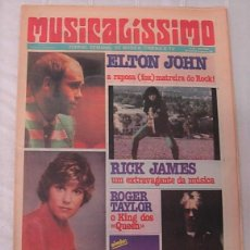 Revistas de música: MUSICALÍSSIMO PERIÓDICO MUSICAL PORTUGUÉS 1981 ELTON JOHN QUEEN ROGER TAYLOR IAN DURY MUY RARO !!. Lote 258025675